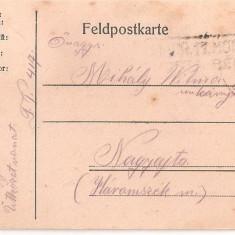 CPI (B4702) FELDPOSTKARTE, CARTE POSTALA MILITARA, KUK, WW1, UNGARIA, AUSTRIA, 16.SEP.1918, MILITAR, RAZBOI - Carte Postala Transilvania 1904-1918, Circulata, Printata