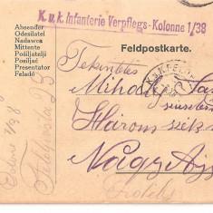 CPI (B4737) FELDPOSTKARTE, CARTE POSTALA MILITARA, KUK, WW1, UNGARIA, AUSTRIA, 3.DEC.1916, AUSTRO-UNGARIA, MILITAR, RAZBOI, ARMATA - Carte Postala Transilvania 1904-1918, Circulata, Printata