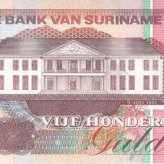 Bancnota Suriname 500 Gulden 1991 - P140 UNC - bancnota america