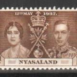 NYASALAND - 1937, nestampilat, MNH