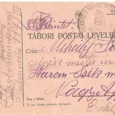 CPI (B4708) TABORI POSTAI LEVELEZOLAP, CARTE POSTALA MILITARA, KUK, WW1, UNGARIA, AUSTRIA, AUSTRO-UNGARIA, 17.iun.1915, MILITAR, RAZBOI, ARMATA - Carte Postala Transilvania 1904-1918, Circulata, Printata