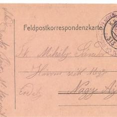 CPI (B4740) FELDPOSTKORRESPONDENZKARTE, CARTE POSTALA MILITARA, KUK, WW1, UNGARIA, AUSTRIA, 6.MAI.1916, AUSTRO-UNGARIA, MILITAR, RAZBOI, ARMATA - Carte Postala Transilvania 1904-1918, Circulata, Printata