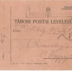 CPI (B4717) TABORI POSTAI LEVELEZOLAP, CARTE POSTALA MILITARA, KUK, WW1, UNGARIA, AUSTRIA, AUSTRO-UNGARIA, 2.iul.1918, MILITAR, RAZBOI, ARMATA - Carte Postala Transilvania 1904-1918, Circulata, Printata