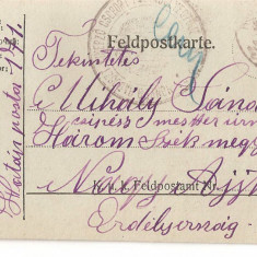 CPI (B4738) FELDPOSTKARTE, CARTE POSTALA MILITARA, KUK, WW1, UNGARIA, AUSTRIA, 13.NOV.1917, AUSTRO-UNGARIA, MILITAR, RAZBOI, ARMATA - Carte Postala Transilvania 1904-1918, Circulata, Printata