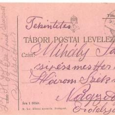 CPI (B4704) TABORI POSTAI LEVELEZOLAP, CARTE POSTALA MILITARA, KUK, WW1, UNGARIA, AUSTRIA, 10.MAI.1917, MILITAR, RAZBOI - Carte Postala Transilvania 1904-1918, Circulata, Printata