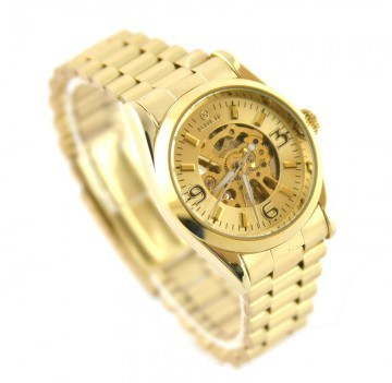 REDUCERE Ceas dama Automatic GOER - CIRCLE GOLD  Edition foto mare