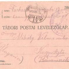 CPI (B4723) TABORI POSTAI LEVELEZOLAP, CARTE POSTALA MILITARA, KUK, WW1, UNGARIA, AUSTRIA, AUSTRO-UNGARIA, 25.iul.1915, MILITAR, RAZBOI, ARMATA - Carte Postala Transilvania 1904-1918, Circulata, Printata
