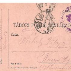 CPI (B4711) TABORI POSTAI LEVELEZOLAP, CARTE POSTALA MILITARA, KUK, WW1, UNGARIA, AUSTRIA, AUSTRO-UNGARIA, 29.aug.1915, MILITAR, RAZBOI, ARMATA - Carte Postala Transilvania 1904-1918, Circulata, Printata