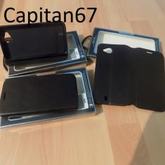 Husa Piele Ecologica Tip Carte Pentru Allview P6 Quad Negru - Husa Telefon