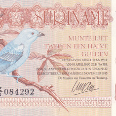 Bancnota Suriname 2 1/2 Gulden 1985 - P119 UNC (serie Z/3)