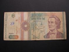 1000   lei  1991  septembrie, rozeta,  H0007 foto
