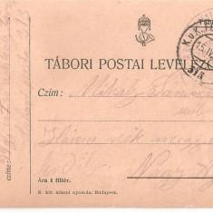 CPI (B4718) TABORI POSTAI LEVELEZOLAP, CARTE POSTALA MILITARA, KUK, WW1, UNGARIA, AUSTRIA, AUSTRO-UNGARIA, 16.apr.1915, MILITAR, RAZBOI, ARMATA - Carte Postala Transilvania 1904-1918, Circulata, Printata