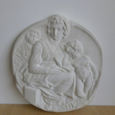 """OBIECT DE DECOR """"Madonna cu pruncul"""" (replica a lucrarii lui Michelangelo) - sculptura reproducere, Portrete, Ipsos"""