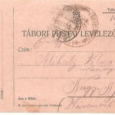 CPI (B4721) TABORI POSTAI LEVELEZOLAP, CARTE POSTALA MILITARA, KUK, WW1, UNGARIA, AUSTRIA, AUSTRO-UNGARIA, 28.dec.1915, MILITAR, RAZBOI, ARMATA - Carte Postala Transilvania 1904-1918, Circulata, Printata