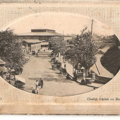 CPI (B4751) BUCURESTI. CHEIUL GARLEI CU HALELE, SCRISA SI NECIRCULAT, DATATA: 17.8.1912, EDITURA HOROVITZ - Carte Postala Muntenia 1904-1918, Necirculata, Printata