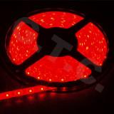 Banda LED SMD 3528 60 LED metru 5 metri lumina rosu autoadeziva auto mobila