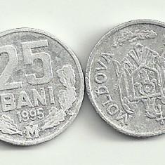 MOLDOVA 25 BANI 1995 [3] livrare in cartonas, Europa, Aluminiu