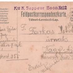 CPI (B4744) FELDPOSTKORRESPONDENZKARTE, CARTE POSTALA MILITARA, KUK, WW1, UNGARIA, AUSTRIA, 24.aug.1915, AUSTRO-UNGARIA, MILITAR, RAZBOI, ARMATA - Carte Postala Transilvania 1904-1918, Circulata, Printata