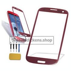 Sticla Display Fata Samsung Galaxy S3 i9300 ROSU + folie protectie ecran - Display LCD