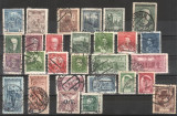 CEHOSLOVACIA - 1929-1934 - Lot  28 buc., stampilate