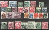 CEHOSLOVACIA - 1935-1937 - Lot  29 buc., stampilate
