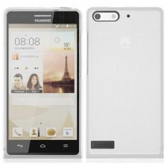 Husa silicon transparent soft Huawei Ascend G6 + folie protectie ecran