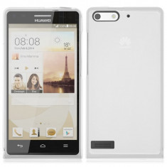 Husa silicon transparent soft Huawei Ascend G6 + folie protectie ecran