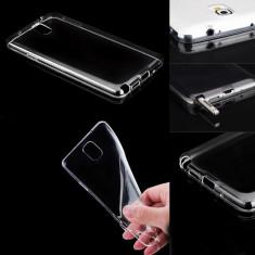 Husa silicon transparent Samsung Galaxy Note 4 + folie sticla ecran Tempered Glass