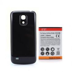 Acumulator extins 4300 mAh capac negru Samsung Galaxy S4 Mini i9190 + folie, Li-ion