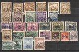 CEHOSLOVACIA - 1918 - 1928 - 1937-1939 - Lot  52 buc., stampilate