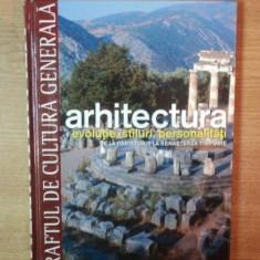 ARHITECTURA, EVOLUTIE, STILURI, PERSONALITATI, DE LA PREISTORIE LA RENASTEREA TIMPURIE - Carte Arhitectura