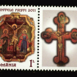 Romania 2011 - Sfintele Pasti LP 1893, serie neuzata cu vigneta, MNH, Religie, Nestampilat