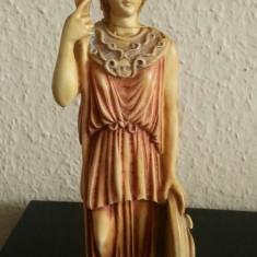 Statuie sculptura din alabastru cu aspect de marmura cu Socrate made in Grecia - Metal/Fonta, Statuete