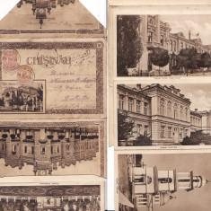 Chisinau (Basarabia) - Carnet cu 10 vederi normale, acordeon, leporello - Carte Postala Moldova 1904-1918, Circulata, Printata