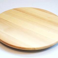 Platou rotativ pentru servire - din lemn masiv lacuit - 39 cm diametru - Nou - Tava servire