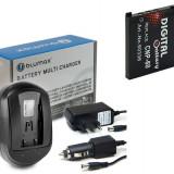 Incarcator + Acumulator compatibil Casio NP-60 NP60 NP 60 | 750 mAh - Incarcator Aparat Foto