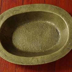 Tava / fructiera / centru de masa din bronz cu marcaj - model deosebit !!! - Metal/Fonta