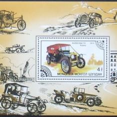 MONGOLIA 1986 - AUTOMOBIL DE EPOCA  1 S/S , NEOBLITERATA - MG074