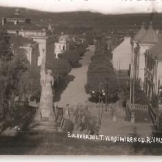CPI (B4775) B-dul T. VLADIMIRESCU - RAMNICU VALCEA, CIRCULATA, 1940, STAMPILE - Carte Postala Oltenia dupa 1918, Fotografie
