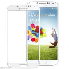 Sticla display fata pentru Samsung Galaxy S4 alb + folie protectie + kit scule