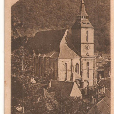 CPI (B4788) BISERICA NEAGRA ev. luth - EVANG. SCHARZKIRCHE, BRASOV, KRONSTADT, CIRCULATA, 11.AUG.1912, STAMPILA - Carte Postala Transilvania 1904-1918, Printata