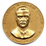 MEDALIE ING. STANCU TUDORICA DIRECTORUL MONETARIEI STATULUI CU PRILEJUL ANIVERSARII A 50 ANI SECTIA NUMISMATICA CCA 1990 ISTORIE INSTITUTII - Medalii Romania