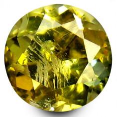 * Piatra naturala Tanzanit (Zoisit) galben - netratat 1, 07 ct - certificat