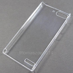 Husa rigida transparenta Huawei Ascend G6 + folie protectie ecran