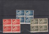 ROMANIA 1940 , MIHAI 3 BLOCURI DE 4 CU VARIETATI DE DANTELURA , LOT 1 RO