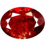 * Piatra naturala Granat Spessartin rosu - portocaliu - 6.05 ct - certificat
