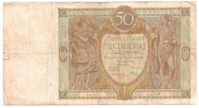 POLONIA 50 ZLOTYCH ZLOTI 1929 U foto