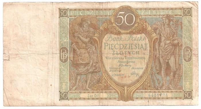 POLONIA 50 ZLOTYCH ZLOTI 1929 U