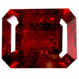 * Piatra naturala Granat Spessartin rosu - portocaliu - octagon cut - 4.38 ct - certificat