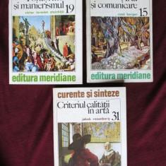 Lot de 3 carti colectia CURENTE SI SINTEZE: